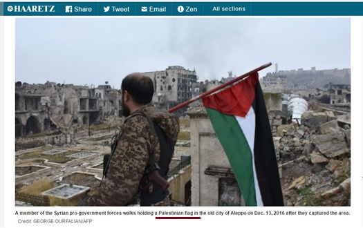 AFP, Haaretz Amend Reference to Syrian, Palestinian Flag