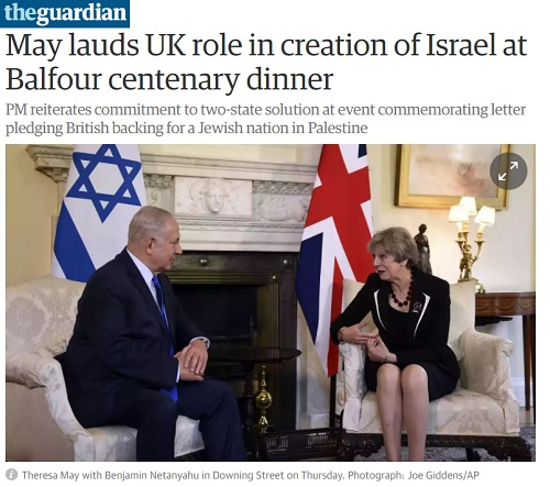 Netanyahu and May commemorate Balfour
