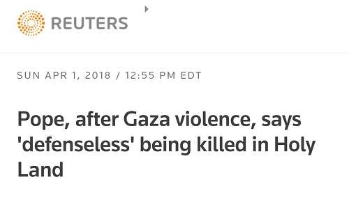 Reuters headline Gaza