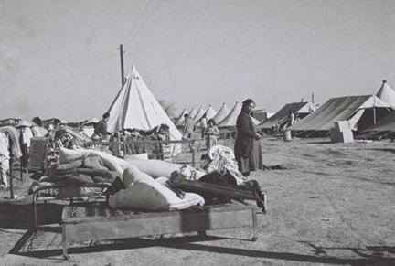 Jewish refugee camp near Tel Aviv