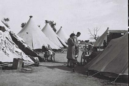 Refugee camp for Jews driven out of Jaffa