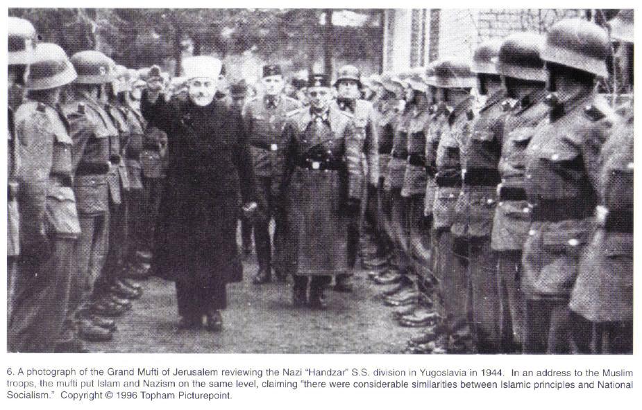 The Mufti and Bosnian SS troops