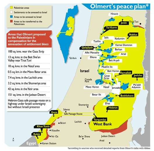Olmert Proposal Map