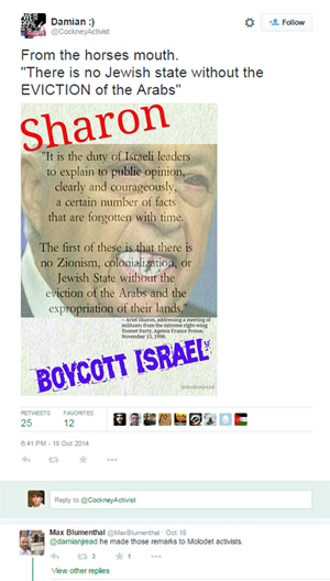 Max blumenthal fake quote