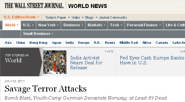 norway attack wsj