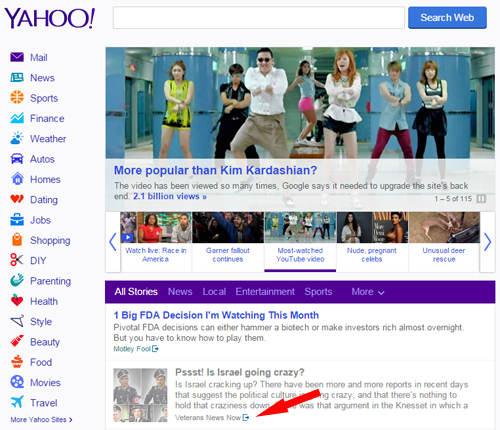 veterans news now on yahoo