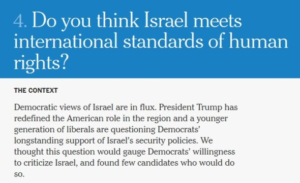 """Do you think Israel meets international standards of human rights?"""