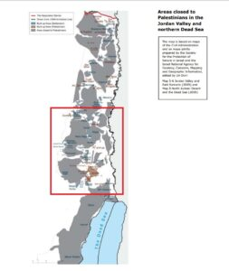 B'Tselem map purports to show closed areas