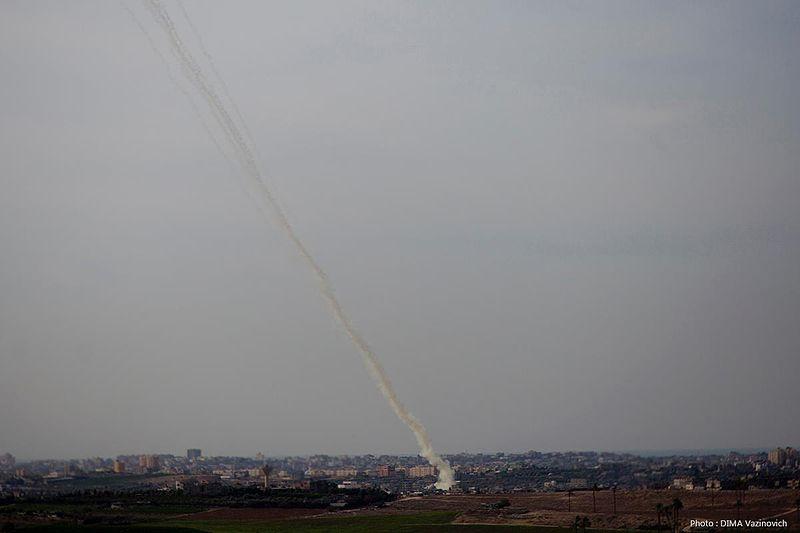 UPI Headline Correction: Rockets Fired At, Not From ... Rockets Gaza Strip Israel